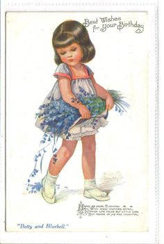 Nina Kennard Brisley (1897-1978) - English - vintage postcard
