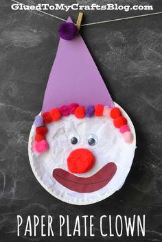 Paper Plate Clown - Kid Craft