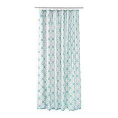 Densely-woven polyester fabric with water-repellent coating. The elastic sewn into the bottom edge adds weight to the curtain and assures that it h...