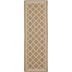Safavieh Brown/ Bone Indoor Outdoor Rug (2'2 x 12')   Overstock.com Shopping - Great Deals on Safavieh Runner Rugs