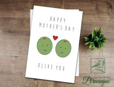 Personalised Birthday card funny card pun card olive you pun funny girlfriend card funny boyfriend card funny husband card wife card Girlfriend Humor, Husband Humor, Boyfriend Humor, Cute Puns, Funny Puns, You Funny, Mothers Day Cards, Valentine Day Cards, Happy Mothers Day