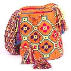 Wayuunaiki Pattern Mochila 100% handcrafted Bags bys Wayuu Women Contact: wayuunaikibags@gmail.com