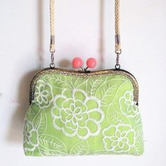 Handmade Organza Silk Embroidered Clasp Handbag