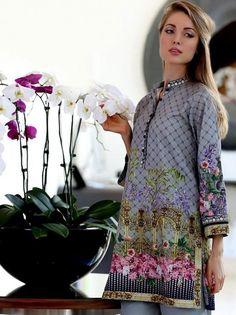 c6bf2fde7d80 Pareesa by Chen one  LawnCollection stitched Shirt in Grey  SayNoToReplicas   PromoteOriginalsAndBeProud Stitch Shirt