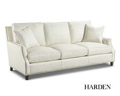 Time to relax and put your feet up with this mid-century modern-influenced Artisan 8603 sofa. Enjoy