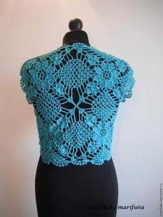 Free crochet patterns and video tutorials: how to crochet mint bolero shrug chaleco free pattern tutorial by Free Crochet, Knit Crochet, Crochet Hats, Summer Knitting, Summer Patterns, Crochet Cardigan, Crochet Fashion, Crochet Clothes, Free Pattern