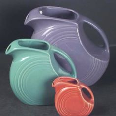 Pitchers....love Fiesta wear - made in my husband's home town of Newell West Virginia