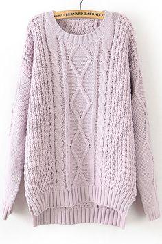 Pink Twist Wave Loose Sweater