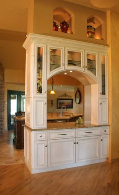 Custom Arched Cabinets