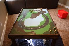thomas the train table Car Table, Train Table, Lego Table, Baby Crafts, Crafts For Kids, Country Girl Home, Train Bedroom, Thing 1, Thomas The Train