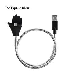 ZRSE Flexible metal Micro USB Charger Fast Charging Car Phone Holder Cable For iPhone Android Type-C Connector Adapter Cables