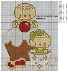 Gingerbread man cross stitch.