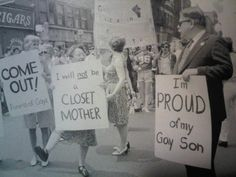 Parents demonstrate in support of gay marriage in New York, 1974