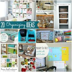 lots of awesome ways to organize! - I need to remember this!