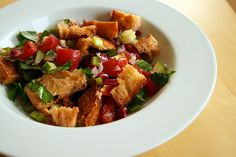 Bacon and Chicken Panzanella (+ A Tip on Making Vinaigrettes) | One Hungry Mama