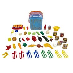 Amazon.com: Cookin' For Kids Play Food Buckets - Teal: Toys & Games