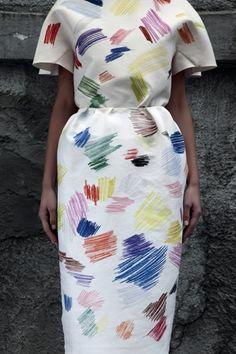 Color pencil dress by Vika Gazinskaya