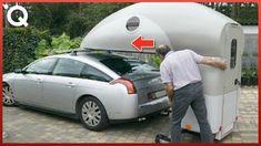 Os Mais Inteligentes Veículos De Acampamento E Motorhomes Que Economizam... Auto Camping, Travel Trailer Camping, Van Camping, Slide In Camper, Tiny Camper, Car Camper, Camper Trailers, Cargo Trailer Conversion, Camper Van Conversion Diy