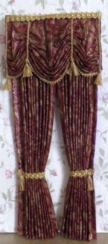 Here's a new design, perfect for a formal dining room, living, or fancy bedroom. DOLLHOUSE DRAPES & CURTAINS