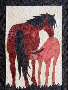 I love doing custom quilting jobs as it really adds variety to my work and allows me to be creative. I will be posting some pictures of som. Bring It To Me, Applique Quilts, Some Pictures, Moose Art, Quilting, Horses, Drawings, Creative, Animals