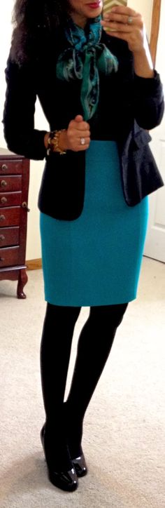 Business Casual: skirts and scarves