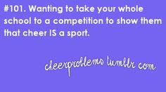 This is why my squad has a mini-exhibition at the game the night before we leave for competition!