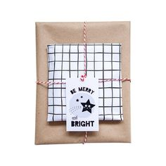 Be merry and bright gift tag x5