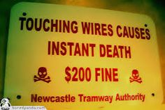 Image result for caution this sign has sharp edges