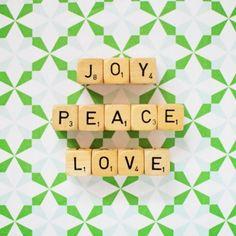 Joy peace love photo print | hardtofind.