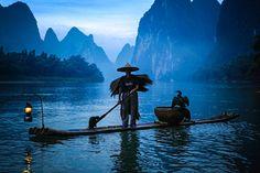 #Yulong river at the break of dawn, Yangshuo China