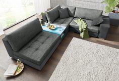 Collection AB Polsterecke XL, mit integriertem beleuchtetem Tisch