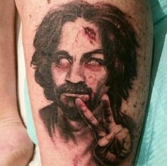 1000 ideas about silver tattoo ink on pinterest green for Charles manson tattoos