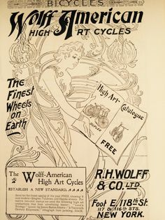 Advert will be framed as art on the bicycle room wall.