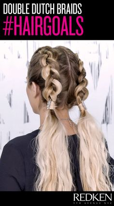double dutch braid goals - love this style for long hair!