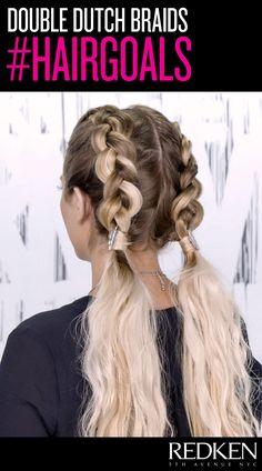 double dutch braid goals - love this style for long hair!