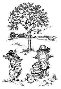 Book Cover Lover: Joan Walsh Anglund - Spring Is A New Beginning Joan Walsh, Old Children's Books, Fairy Coloring Pages, Tree Illustration, Art Illustrations, Charley Harper, Black And White Illustration, Vintage Artwork, Naive Art