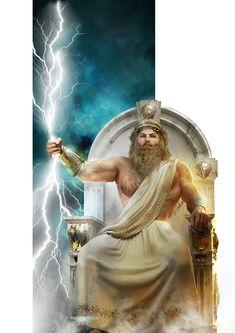 Zeus by on DeviantArt Roman Gods, Greek Wedding, God Of War, Olympians, Greek Mythology, Character Description, Percy Jackson, Role Models, Character Art