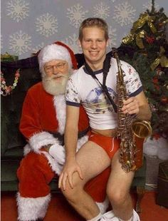 After this photo was taken, Santa hid in the break room and pounded down an entire bottle of Jagermeister.