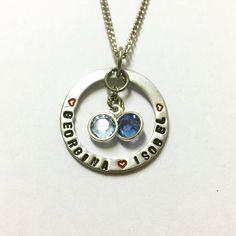 #circleoflove #necklace #swannyandboo #swarovski #stamped #metalstamping