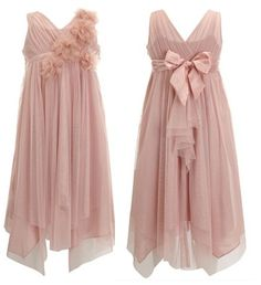Flowergirl/Bridesmaid/Party Dress  Bridget Corsage Dress in Dusky Pink by MONSOON