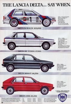 Lancia Delta Promo Classic Sports Cars, Classic Cars, Classic Auto, Sport Cars, Race Cars, Lancia Delta, Car Advertising, Rally Car, Amazing Cars
