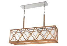Dame 4-Light Linear Fixture, Natural on OneKingsLane.com