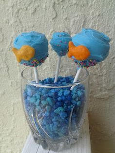 Gold Fish Cake Pops