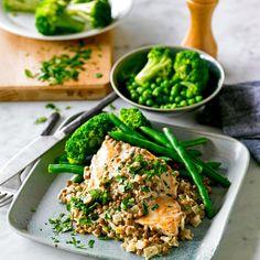Creamy mustard chicken with lentils Recipe | Weight Watchers AU