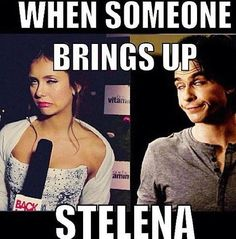 Nothing against Stelena, but I love Delena and this was funny!