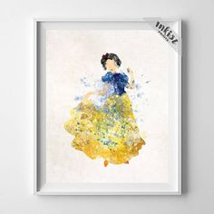 Snow White, Snow White Print, Disney Princess, Snow White Art, Disney Print, Watercolor Painting, Princess Poster, Type 1, Christmas Gift, Wall Art. PRICES FROM $9.95. CLICK PHOTO FOR DETAILS.#inkistprints #watercolor #watercolour #giftforher #homedecor #wallart #walldecor #poster #print #christmas #christmasgift #weddinggift #nurserydecor #mothersdaygift #fathersdaygift #babygift #valentinesdaygift #painting #dorm #decor #livingroom #bedroom