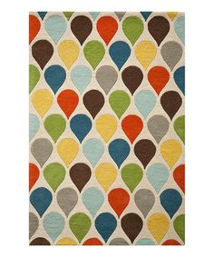 Another great find on #zulily! Teardrop Wool Rug #zulilyfinds