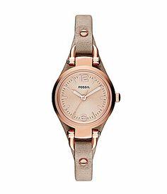 Fossil Georgia Rose Leather Strap Watch #Dillards