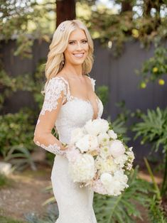 On December Christina and Ant Anstead pulled off a surprise wedding in their backyard for 70 of their closest friends and family. Backyard Wedding Dresses, Fairy Wedding Dress, Mermaid Wedding, Renewal Wedding, Wedding Day, Wedding Stuff, Wedding Photos, Christina El Moussa Bikini, December Wedding Dresses