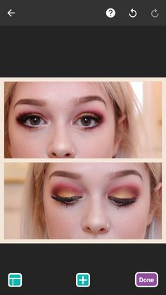 Griffindor eyes for Harry Potter studios visit - new_make_up_pintennium Beauty Makeup Tips, Eye Makeup, Hair Makeup, Pink Makeup, Maquillage Harry Potter, Harry Potter Hairstyles, Harry Potter Makeup, Makeup Brush Uses, Harry Potter Studios
